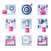 Set of flat icons — Vector de stock