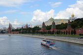 Moscow, view of the Kremlin and the Moscow River — Stock Photo