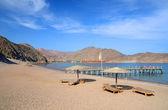 Výhled pláž a perského zálivu — Stock fotografie