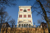 Gomel, fragment Rumyantsev-Paskevich Palace. Tower — Stock Photo