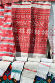 Belarusian towels with traditional ornament — Stock Photo