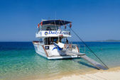 Pleasure boat at the Sithonia Peninsula, Greece — Stock Photo