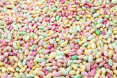 Colourful and sweet puffed rice — Stock Photo