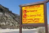 Fire Restrictions Sign — Stock Photo