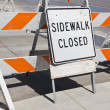 Sidewalk Close Sign — Stock Photo #45130197