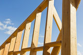 Wooden Wall Frame — Stock Photo
