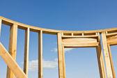 Wood Frame for Door — Stock Photo