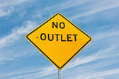 No Outlet — Stock Photo