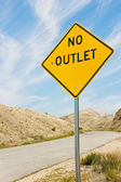 No Outlet Sign — Stock Photo