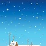 Silent Night Christmas Eve Vector Illustration — Stock Vector #45421819