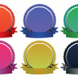 Vector Illustration of Six Colorful Badges — Stock Vector #45576971
