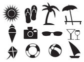 Vector illustration of Summer Related Isolated Objects — Vecteur