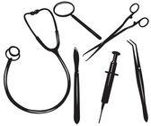 Conjunto de médico — Vector de stock