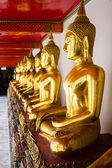 Goden Buddha at Wat Pho — Stock Photo