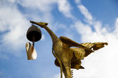 Kinnaree, Mythical female bird  with bell in mount — Stock Photo