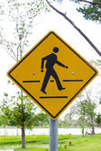 Crosswalk sign with a man  — 图库照片