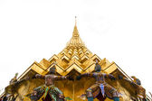 The Golden Pagoda and Yak statue — Stock Photo