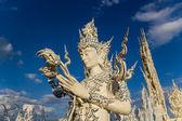 Humen estatua en wat rong khun — Foto de Stock