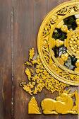 Beautiful Door of Leng Noei Yi 2 temple — Stock Photo