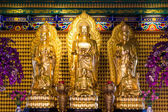 Golden Chainese Buddha Leng Noei Yi 2 temple  — Stock Photo