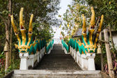 King of Nagas with stairs — Stock Photo