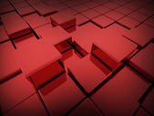 Red cubes concept  — Stock Photo