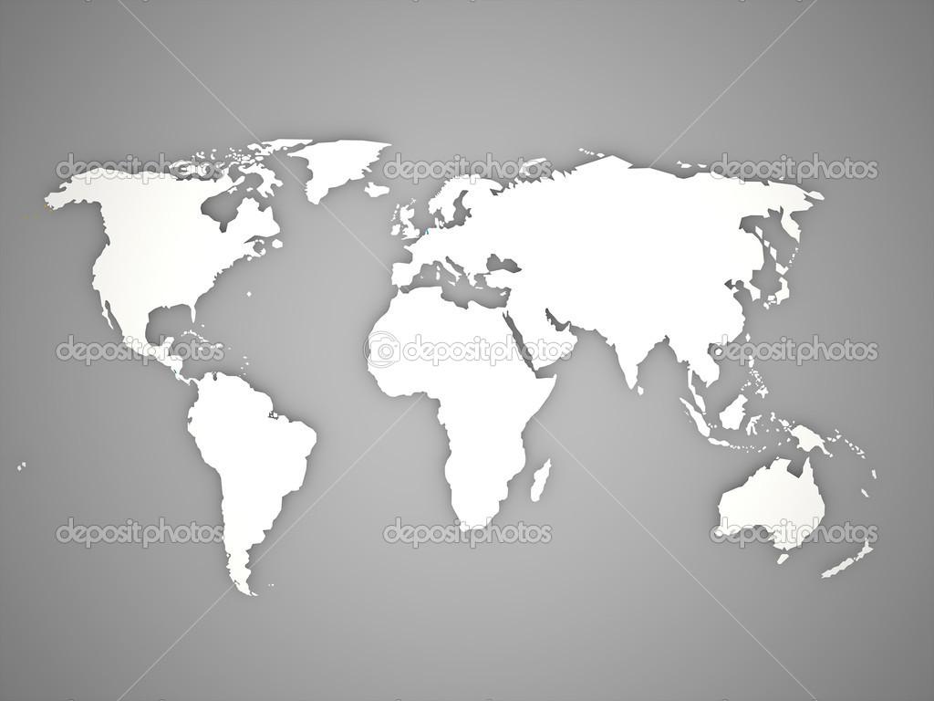 Mappa del mondo foto stock pupes 45978279 for Mappa mondo bianco e nero