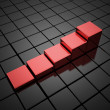Red graph from cubes — Stock Photo #46088953