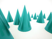 Abstract blue cones — Stock Photo