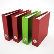 Exercise book red and green — Stock Photo