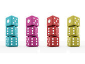 Colored dice concept — Stock Photo