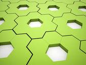 Green hexagonal gears background — Stock Photo