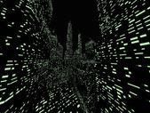 Espaço da cidade à noite — Fotografia Stock