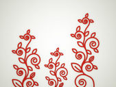 Red flower motive concept — Stock Photo