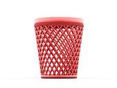 красный мусорный бак — Стоковое фото