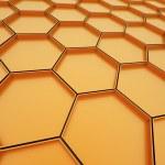 Orange hexagonal cells background — Stock Photo #46332783