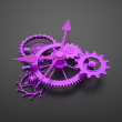 Watch pink gears inside — Stock Photo #46338221