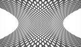 Black hexagonal mesh rendered — Stock Photo