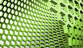 Green abstract hexagonal mesh — Stock Photo
