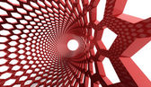 Red hexagonal abstract   — Stock Photo