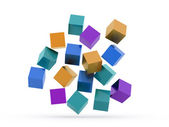 Many colored cubes concept — Stock Photo