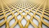 Abstract yellow wave mesh background  — Stock Photo