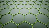 Green hexagonal mesh background  — Stock Photo
