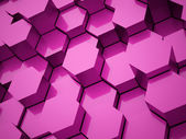 Pink hexagonal background tubes   — Stock Photo