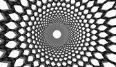 Black hexagonal mesh — Stock Photo