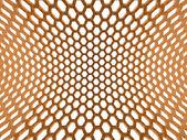 Orange hexagonal mesh — Stock Photo