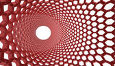 Red abstract hexagonal mesh background  — Stock Photo