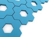 Blue hexagonal gears background — Stock Photo