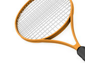 Orange tennis racket rendered  — Stockfoto