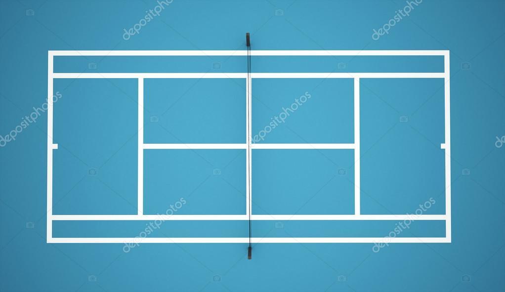 Cancha de tenis azul foto de stock 46628977 for Revetement court de tennis